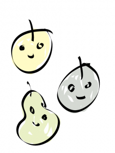 神戸・芦屋・西宮のカウンセリング:3つの果物