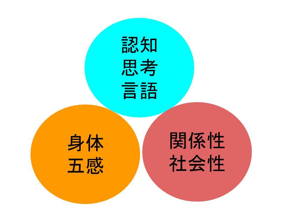 発達の3つの領域「認知」「身体」「関係性」|発達障害